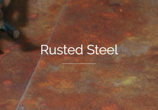 Rusted Steel Header